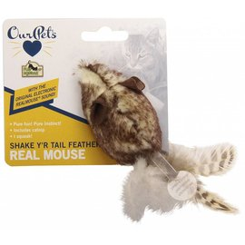 Our Pets Our Pets Play-N-Squeak Shake Y'r Tail Feather Cat Toy