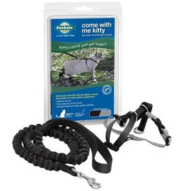 Pet Safe Petsafe Come With Me Kitty Harness & Bungee Leash Black