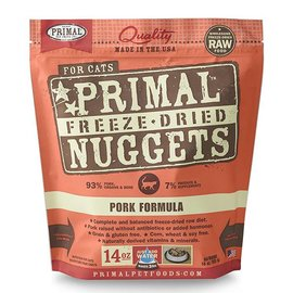Primal Pet Foods Primal Pork Freeze Dried Cat Food 14-oz Bag