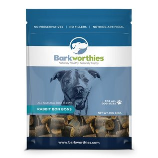 BarkWorthies Barkworthies Rabbit Bon Bon Dog Treat 8-oz Bag