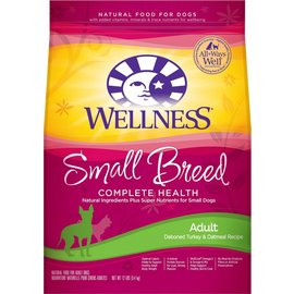Wellness Wellness Complete Health Small Breed Deboned Turkey & Oatmeal Dry Dog Food
