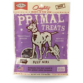 Primal Pet Foods Primal Beef Jerky Nibs Grain-Free Dog Treat 4-oz Bag