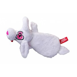 Quaker Pet Group Quaker Pet Group Hear Doggy White Rabbit Flats Dog Toy