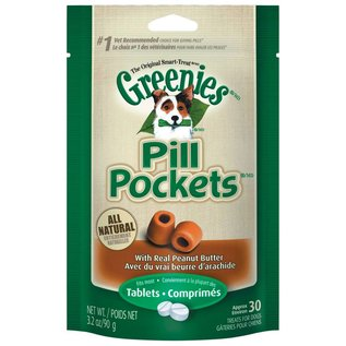 Greenies Greenies Dog Pill Pockets Peanut Butter for Tablets 3.2-oz Bag