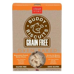 Cloud Star Cloud Star Buddy Biscuits Grain-Free Peanut Butter Dog Treats 14-oz Box
