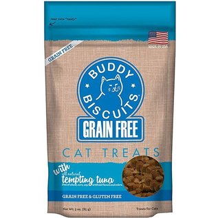 Cloud Star Cloud Star Cat Buddy Biscuits Tempting Tuna Grain-Free Soft Treats 3-oz Bag