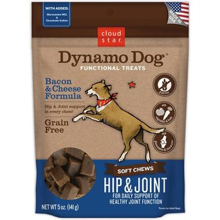 Cloud Star Cloud Star Dynamo Dog Hip & Joint Soft Chews Bacon & Cheese Dog Treats