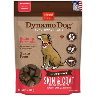 Cloud Star Cloud Star Dynamo Dog Skin & Coat Salmon Dog Treats 5-oz Bag