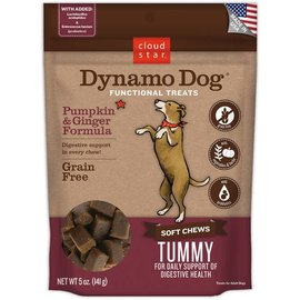 Cloud Star Cloud Star Dynamo Dog Tummy Pumpkin & Ginger Dog Treats 5-oz Bag