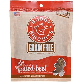 Cloud Star Cloud Star Buddy Biscuits Grilled Beef Grain-Free Soft Dog Treats 5-Oz Bag