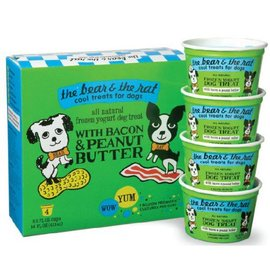 The Bear and The Rat The Bear and The Rat Bacon & Peanut Butter Frozen Yogurt Dog Treat 3.5-oz