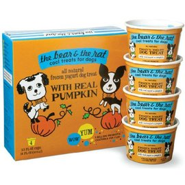 The Bear and The Rat The Bear and The Rat Pumpkin Frozen Yogurt Dog Treat 3.5-oz