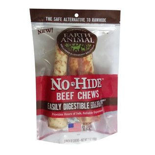 Earth Animal Earth Animal No-Hide Beef Dog Chews, 2-Pack