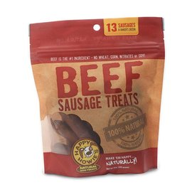 "Happy Howie's Happy Howie's Beef Sausage Bakers Dozen 4"" Dog Chews 8-oz Bag, 13 count"
