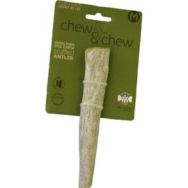 Himalayan Himalayan Chew & Chew Stuffed Antler Dog Treat