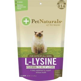Pet Naturals Of Vermont Pet Naturals of Vermont L-Lysine Cat Treats 60-Count Bag