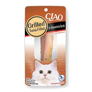 Ciao Ciao Grilled Tuna Fillet in Homestyle Broth Cat Treat 0.5-Oz Package