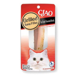 Ciao Ciao Grilled Tuna Fillet in Crab Flavored Broth Broth Cat Treat 0.5-Oz Package