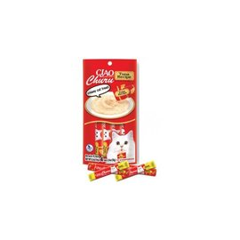 Ciao Ciao Churu Puree Tuna Recipe Cat Treat 2-Oz, 4-Pack