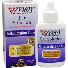 Zymox Zymox Enzymatic Ear Solution with Hydrocortisone, 1.25-oz Bottle