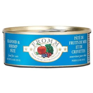 Fromm Pet Foods Fromm Seafood & Shrimp Pate Canned Cat Food, 5.5-oz Can