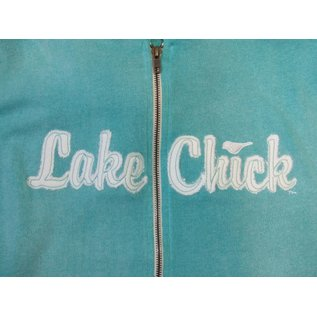Lake Chick Wholesale ZIPH2102 Script CHick Applique Zip Hood