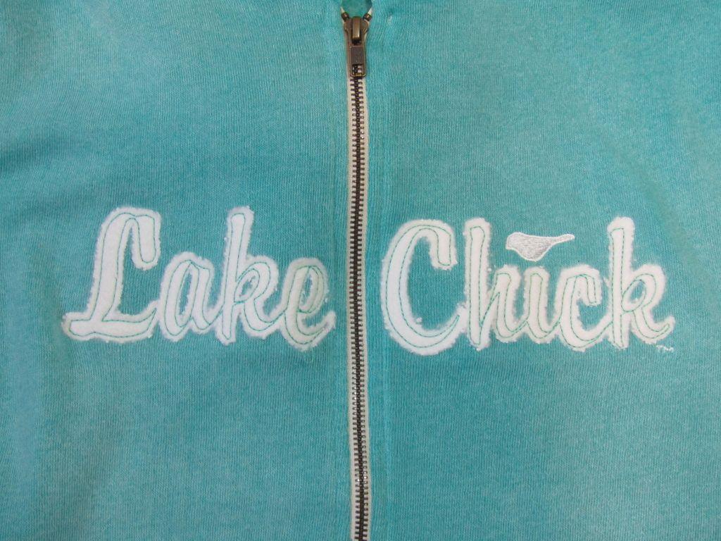 Lake Chick Wholesale ZIPH2102 Script CHick Applique Zip Hood