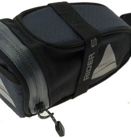 Axiom Rider DLX Seat Bag: Black/Gray; SM