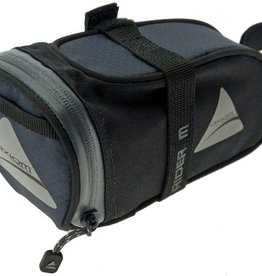Axiom Rider DLX Seat Bag: Black/Gray; MD