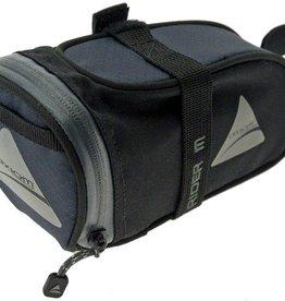 Axiom Rider DLX Seat Bag: Black/Gray; MD