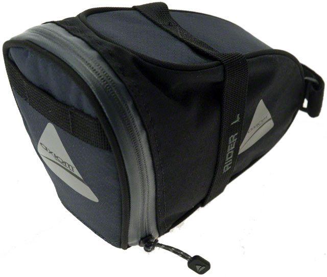 Axiom Axiom Rider DLX Seat Bag: Black/Gray; LG