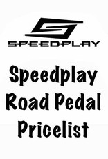Speedplay, Inc. Speedplay Road Pedal Pricelist