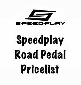 Speedplay, Inc. Speedplay Road Pedal Pricelist
