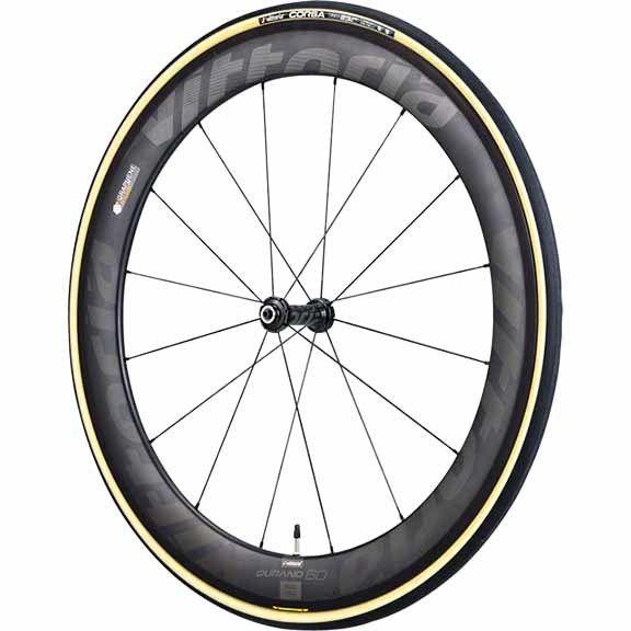 Vittoria Vittoria Corsa G+ Tubular 700 x 23 Tire, Natural/Black/Black
