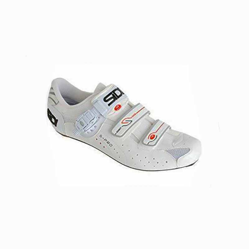 Sidi Mens Genius 5 Road Shoe Vernice White 46