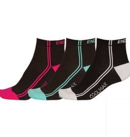 Endura Stripe 3  Pair Wms Sock