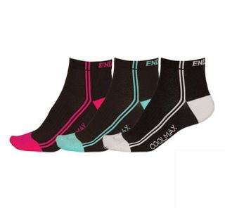Endura Stripe 3  Pair Wms Sock