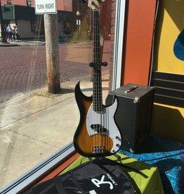 J. Reynolds J. Reynolds Bass Guitar w/ Gig Bag - Antique Sunburst
