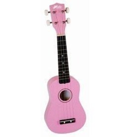 Hilo Hilo Soprano Ukulele w/ Bag - Pink