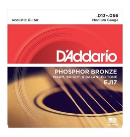 Daddario D'Addario EJ17 Phosphor Bronze, Medium Acoustic Guitar Strings (13-56)