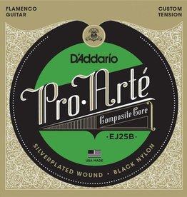 Daddario D'Addario EJ25B Pro-Arté Black Nylon Composite, Flamenco Guitar Strings