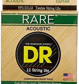 DR Strings DR Rare Acoustic Guitar Strings - 12 String, Light