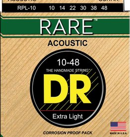 DR Strings DR Rare Acoustic Guitar Strings - Extra Light, Phosphor Bronze (10 - 48)