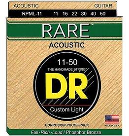 DR Strings DR Rare Acoustic Guitar Strings - Custom Light, Phosphor Bronze