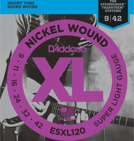 Daddario D'Addario ESXL120 Nickel Wound, Super Light, Double Ball End, 9-42