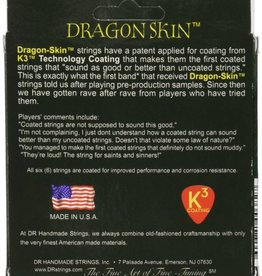 DR Strings DR Dragon Skin Coated Acoustic Guitar Strings - Light (12 - 54)