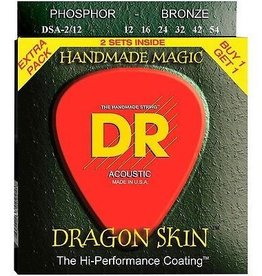DR Strings DR DragonSkin Acoustic Guitar Strings - Light (2 sets)