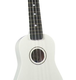 Diamond Head Diamond Head Soprano Ukulele w/Bag, White, Soprano