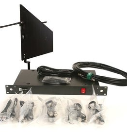 RF Venue RF Venue 4-Channel Antenna Distributor with Black Diversity Fin Antenna and Cables Bundle
