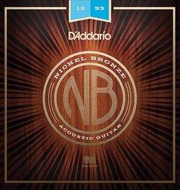 Daddario D'Addario NB1253 Nickel Bronze Acoustic Guitar Strings - Light, 12-53